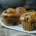 2 Blueberry Muffin on Wood #nourishedkitchen