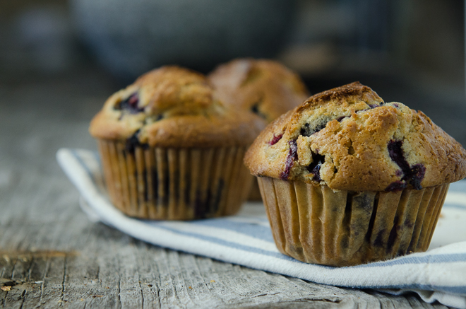 Sprouted Whole Grain Blueberry Muffins