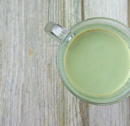 green tea latte - nourished kitchen
