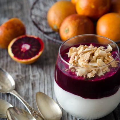 Honeyed Coconut and Blood Orange Mousse