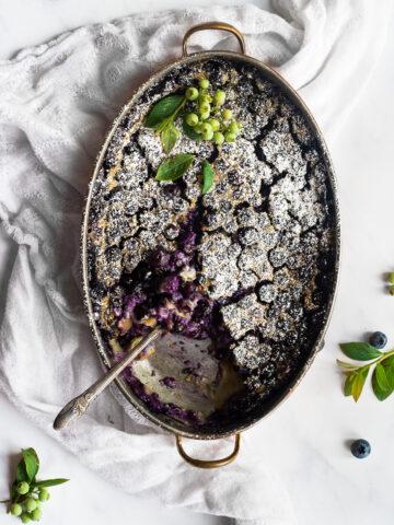 blueberry clafoutis