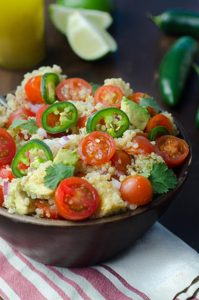 quinoa salad cumin lime vinaigrette