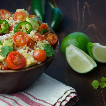 Quinoa Salad with Cumin Lime Vinaigrette