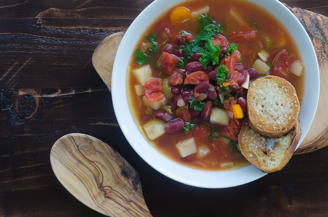 Simplest Kidney Bean And Vegetable Soup Nourished Kitchen