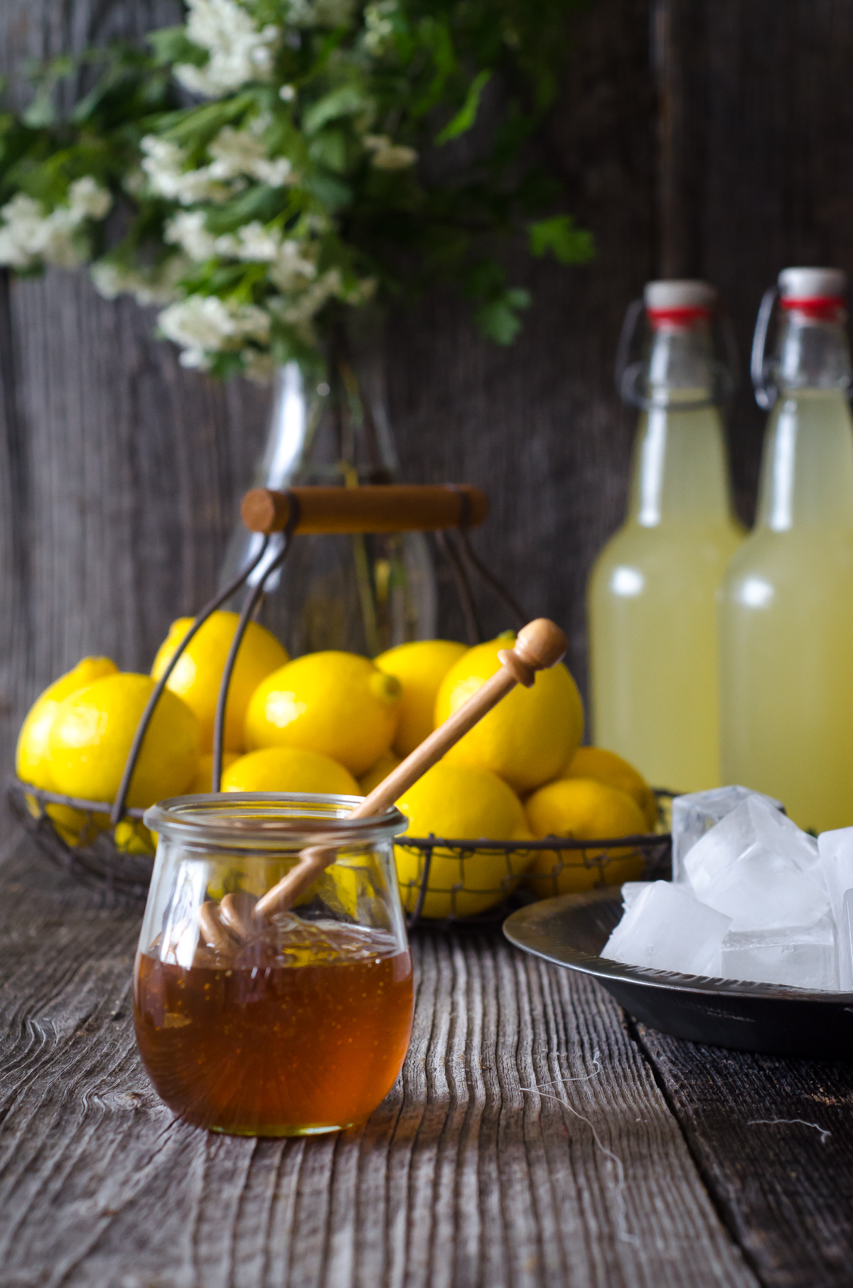 Naturally Fermented, Probiotic Honey Lemonade Soda