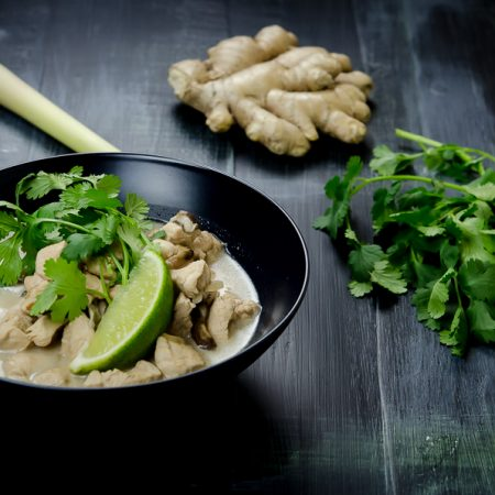 Thai-Style Chicken Soup with Lemongrass and Coconut Milk [Tom Kha Gai]