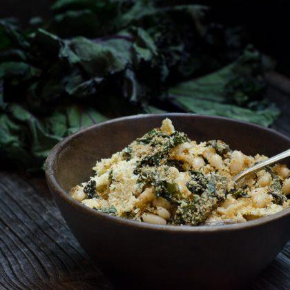 White Bean and Kale Gratin