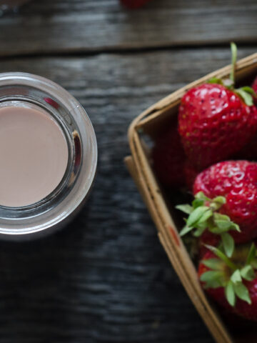 Strawberry Horchata is a super-simple, dairy-free and grain-free drink to make in summertime when strawberries are plentiful.