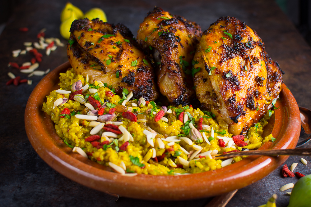 of North African spices, this easy main course blends spiced grilled ...