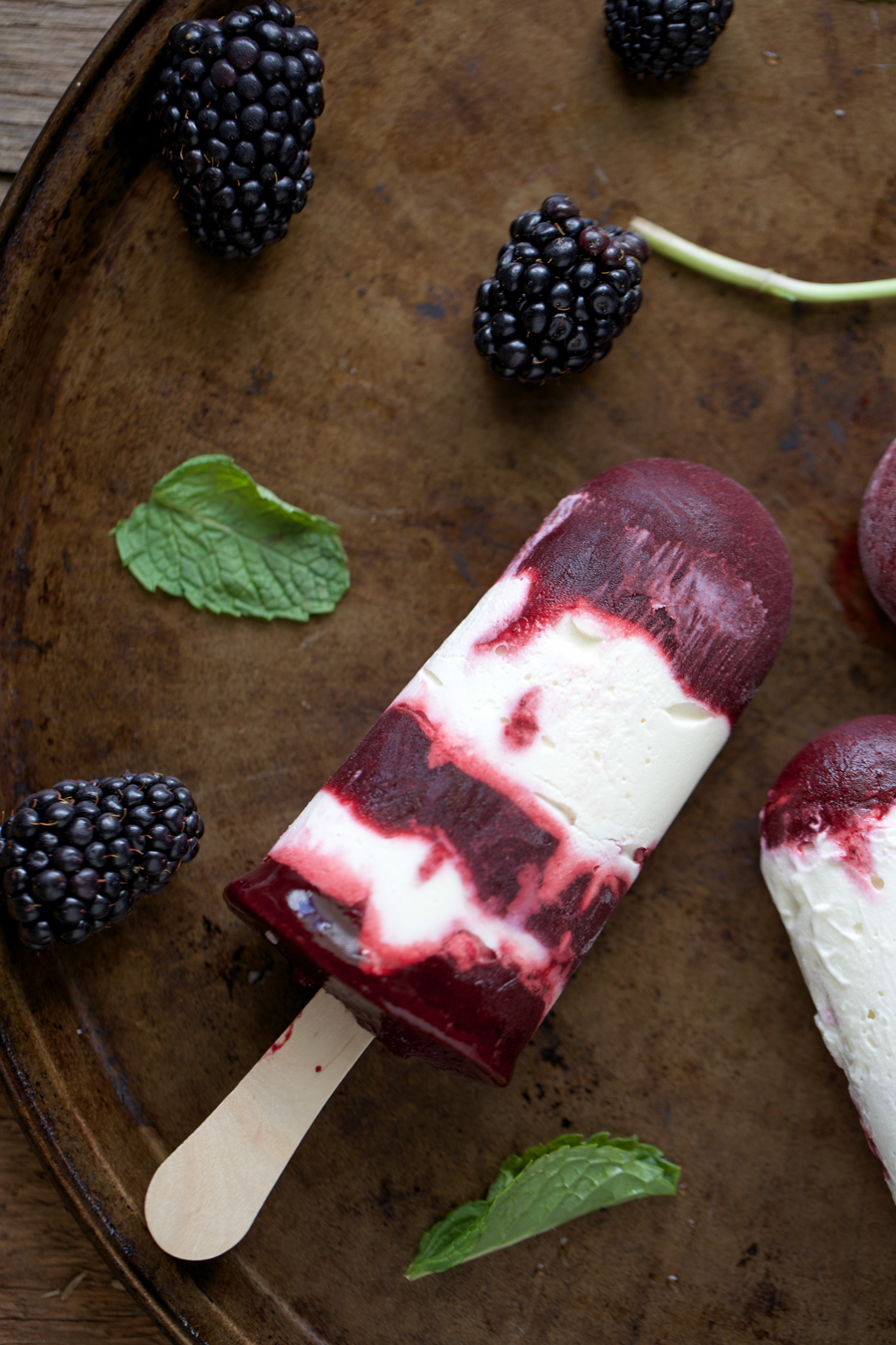 Blackberry Mint Popsicles
