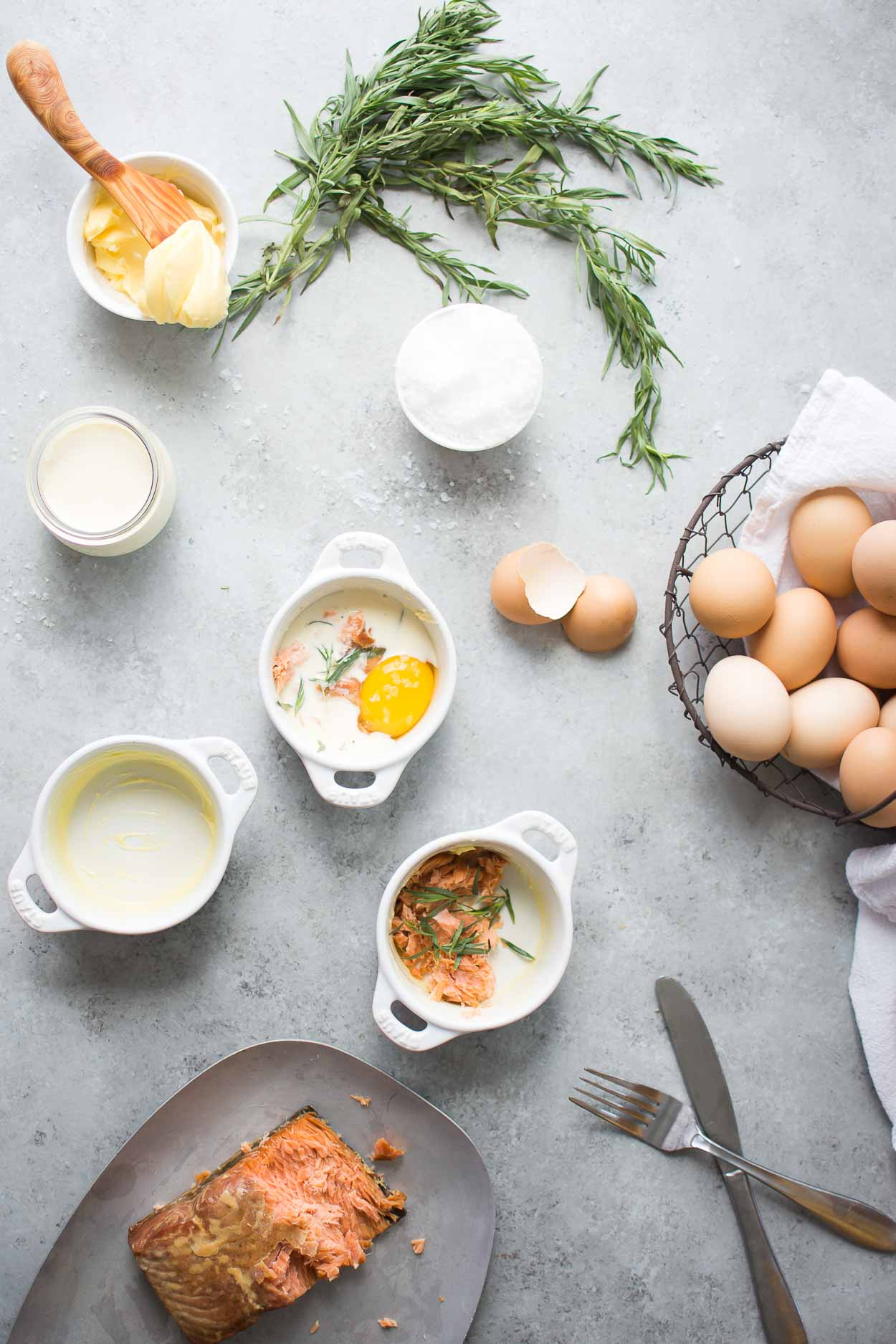 How to Make Baked Eggs with Smoked Salmon.
