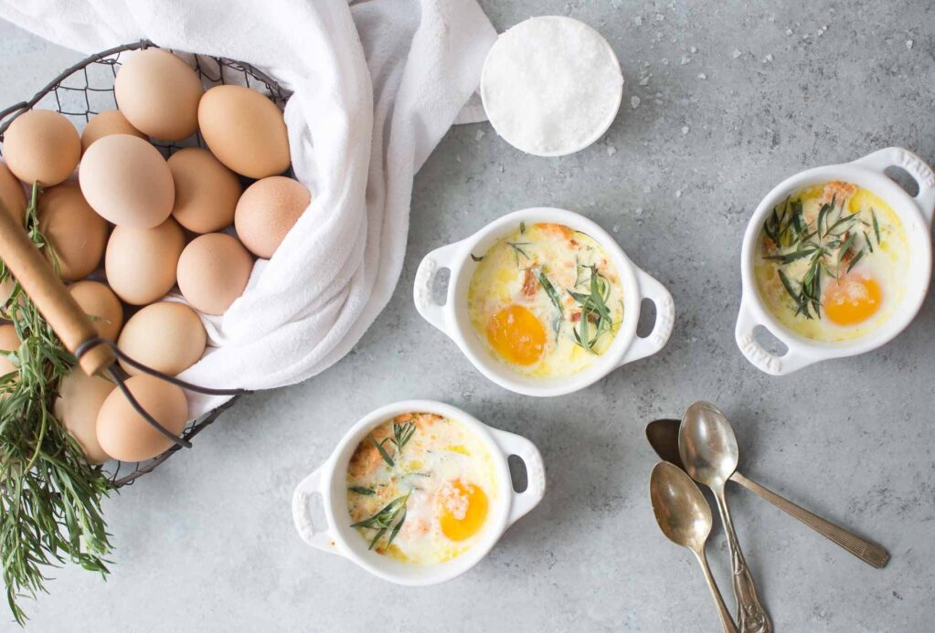 A Spring Brunch should always include these easy baked eggs.