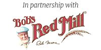 In partnership with bob's red mill (logo)
