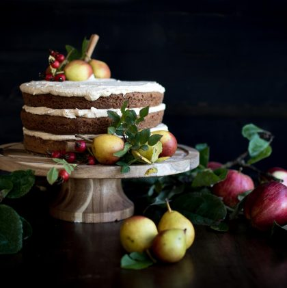 Harvest Cake with Maple Frosting