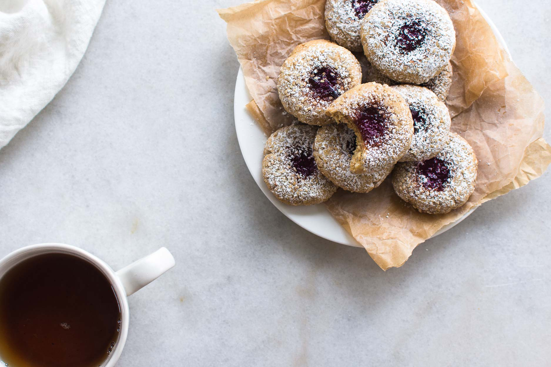 Spelt Thumbprint Cookie Recipe with Plum Jam