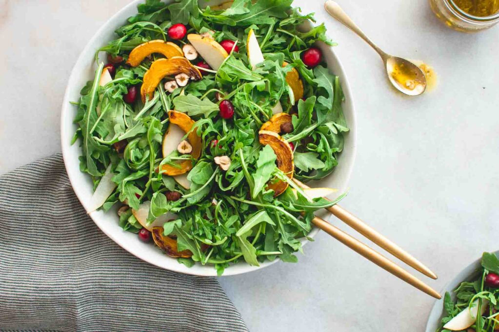 Maple Mustard Vinaigrette makes a nice dressing of spring herbs and greens