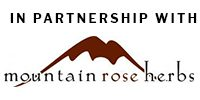 In partnership with mountain rose herbs.